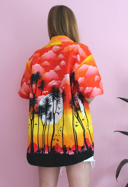 Pink/Orange/Yellow Ombre Beachy Shirt