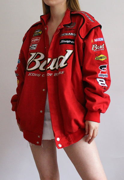 Vintage Red Chase Authentics Budweiser Racing Jacket