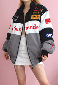 Black/White/Grey Mercedes-Benz Racing Jacket