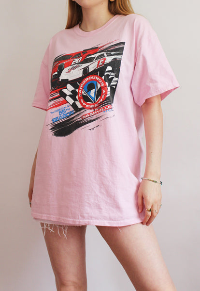 Baby Pink Fairgrounds Speedway Racing T-Shirt