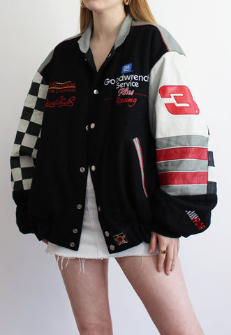 Chase Authentics Dale Earnhardt #3 Reversible Checkerboard Racing Jacket