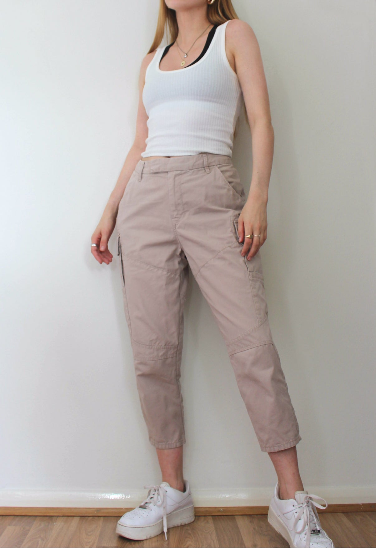 Beige Gap Cargo Trousers