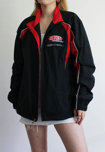 Black Lightweight Dupont Nascar Racing Rain Jacket