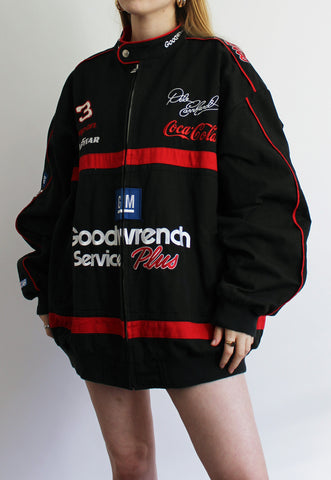 Vintage Black & Red Chase Authentics Goodwrench Racing Jacket