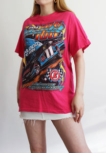 Bright Pink World 100 Racing Gildan T-Shirt