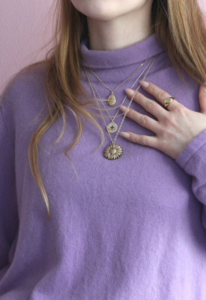 Lilac Purple High Neck Jumper