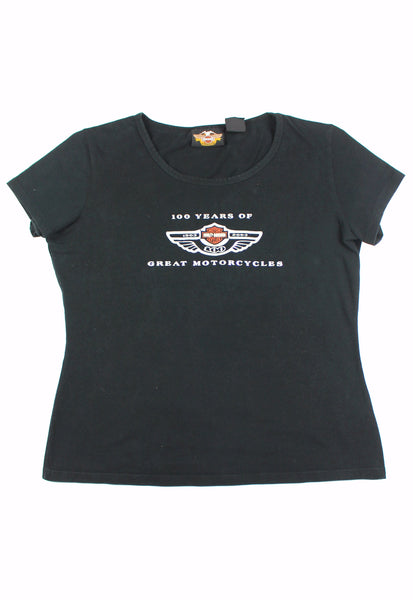 Harley-Davidson 100 Years of Great Motorcycles Black Tee