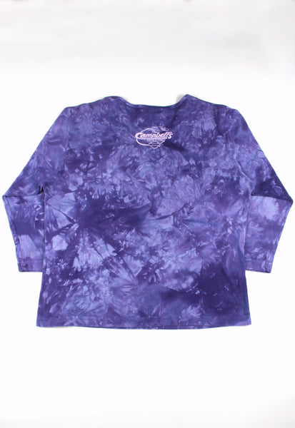 Harley-Davidson Purple Tie Dye Top With Ruched Detail