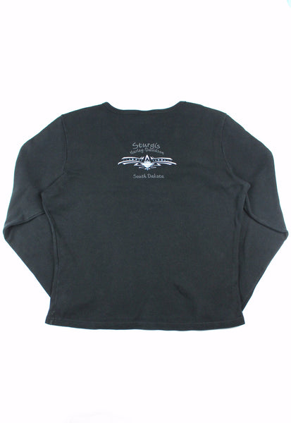 Harley-Davidson Black Long Sleeve Top With Ring Details