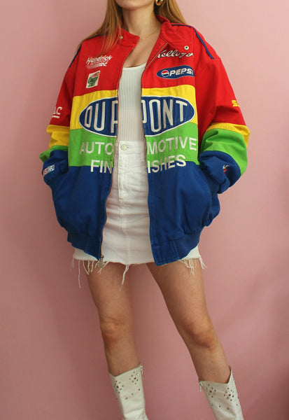 Vintage Rainbow Chase Authentics Racing Jacket