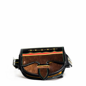 calf hair luxury handmade handbag waist bag