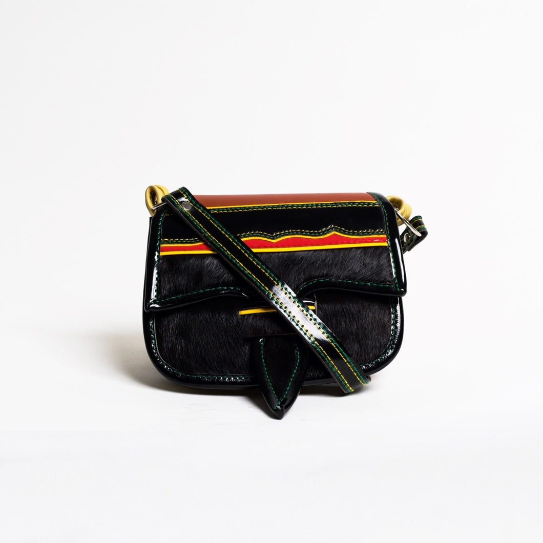 calf hair luxury  handmade handbag crossbody