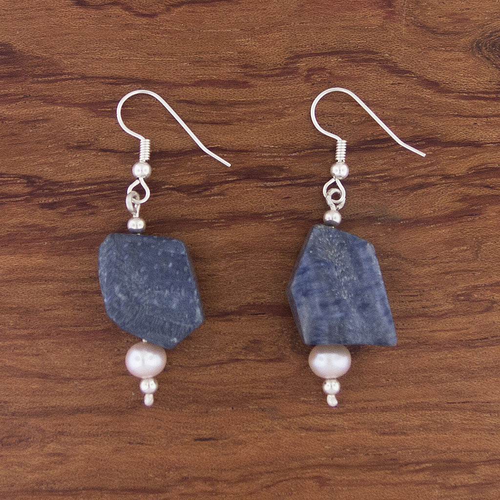 Blue Sponge Earrings