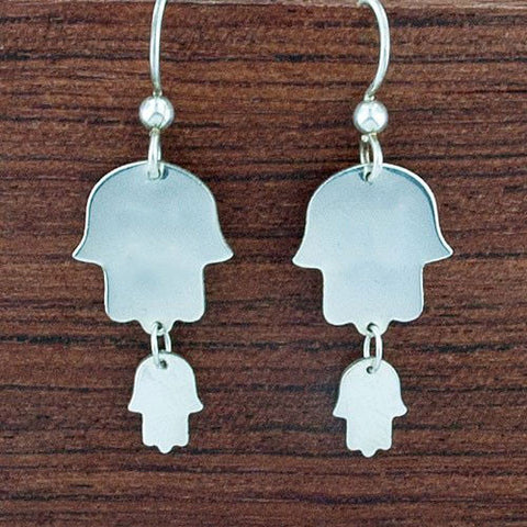Double Hamsa Earrings