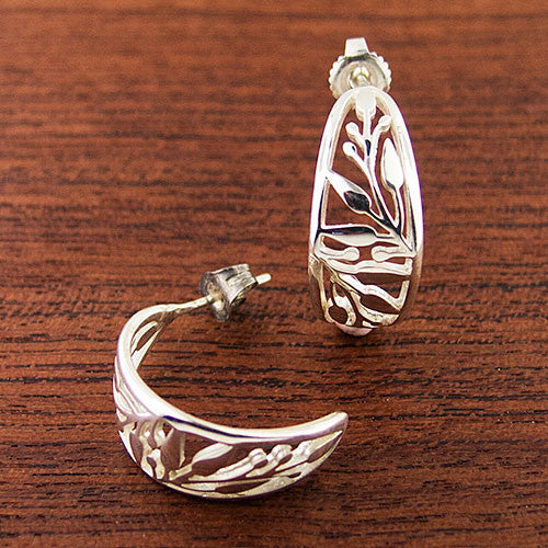 Olive Branch Demi-Hoop Earrings
