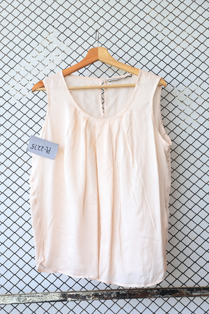 Creme Summer Sleeveless Blouse