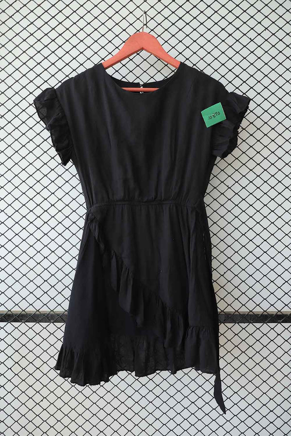 Black Ruffle Dress (Small)