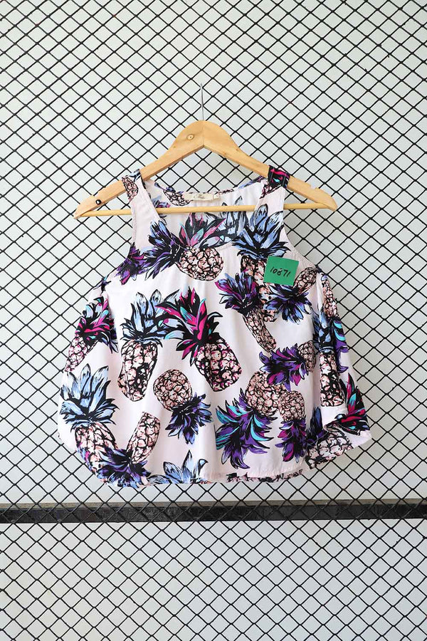 Pineapple Print Tank Top (Small)