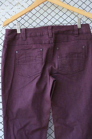 Purple Stone Washed Effect Jeans