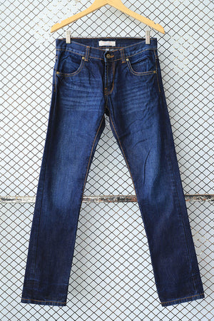 Deep Dark Blue Straight Cut Jeans (Brand: Tribal Vintage)