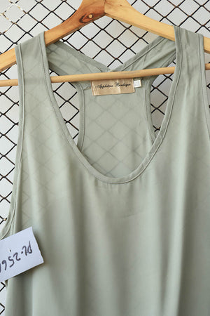 Grey Statement Racer Back (Brand: Appletree Boutique)