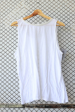 White Classic Jersey Racer Back