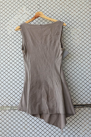 Olive Military Style Stretch Dress