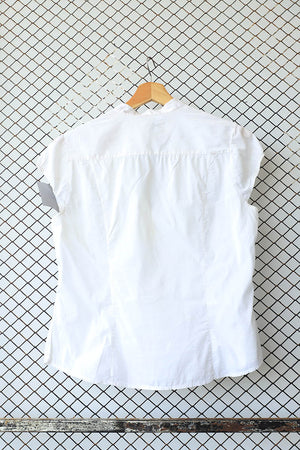 White Cotton Short Sleeve Blouse (Brand: H &M)