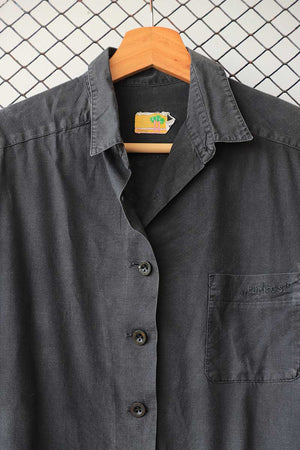 Grey Stonewash Look Cotton Button Down (PL-3341)