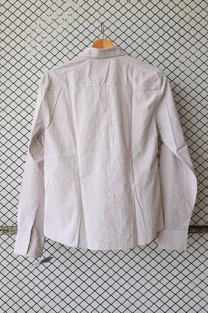 Beige and Pink Pin Striped Summer Button Down