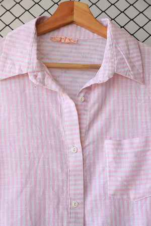 Pink and White Checkered Button Down