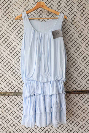 Ice Blue Tiered Dress