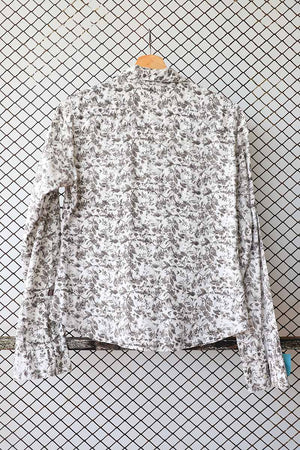 Patterned Cotton Blouse