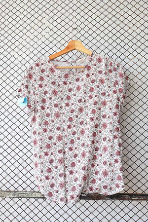 Floral Printed Short Sleeved Blouse (Brand: H &M)