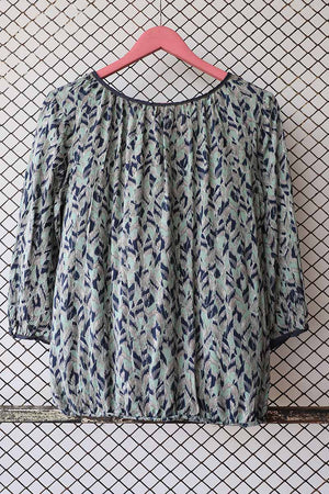 Abstract Printed Summer Blouse