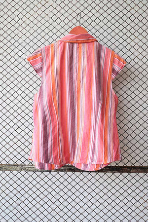 Mutli Coloured Striped Summer Blouse