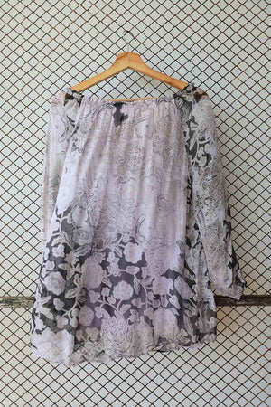Chiffon Glitch Florals Patterned Blouse