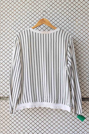 Black and White Knit Lounge Top