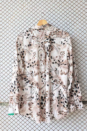 Retro Animal Print Style Blouse (Brand: DAMART)