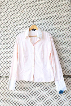 Baby Pink Cotton Button Down