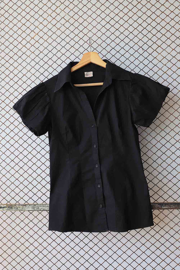 Black Cotton Blouse