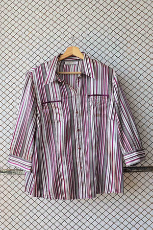 Retro Striped Button Down