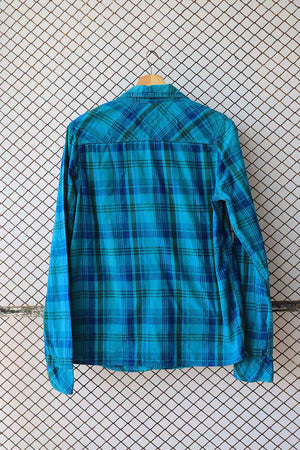 Electric Blue Checkered Blouse (Brand: Hilfiger Denim)