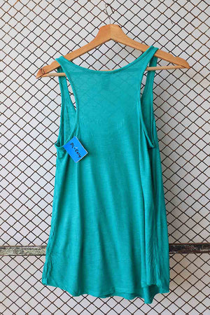Sleeveless Green Tank Top