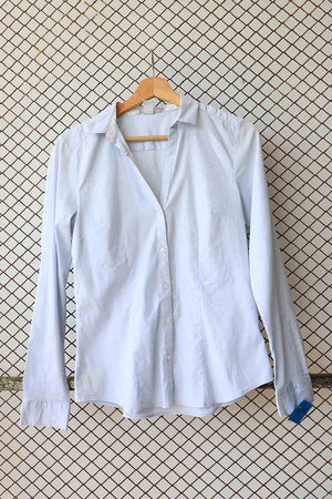Dove Grey Cotton Button Down (Brand: H &M)