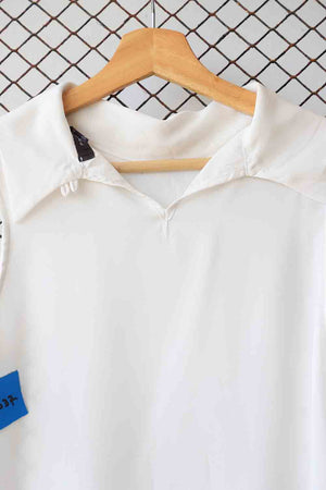 White Sleeveless Collared Blouse (Brand: Primark)