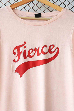 Pink Fierce Logo Knit Sweater