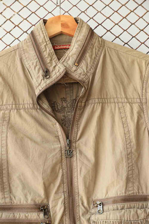 Beige Bomber Jacket (Brand: Billabong)