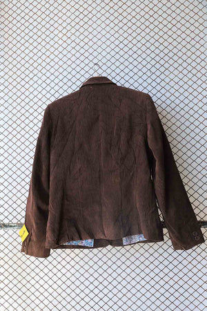 Brown Cuordroy Blazer