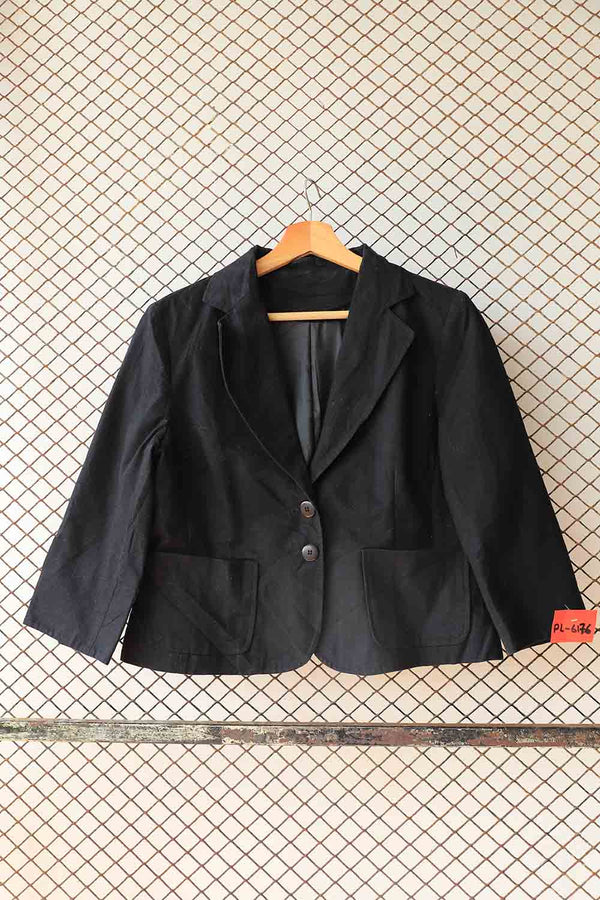 Black Short Statement Bolero Blazer